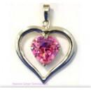 """Pandantiv """"heart in heart"""" S roz"""