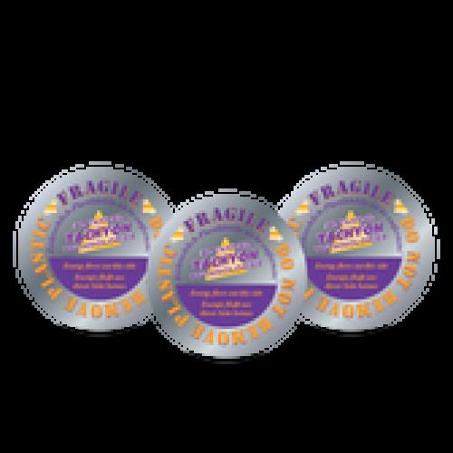 Discuri siliciu tahionizate simple 10 cm - set 3 bucăți