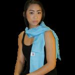 Eşarfă tahionizată din mătase naturală 45