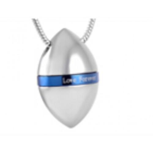 Pandantiv sferic inel albastru